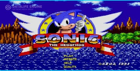 Игра Соник Sega - Sonic the hedgehog