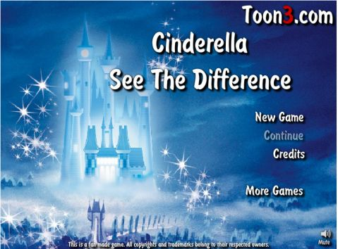 Игра Найди различия - Cinderella See The Difference