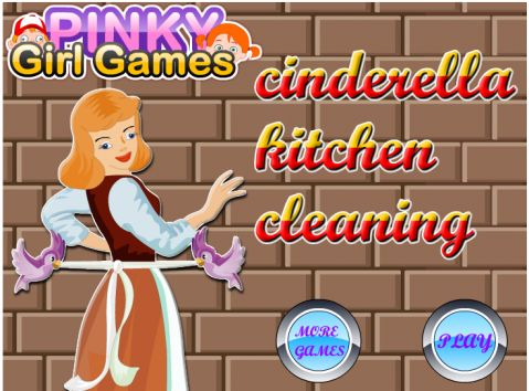 Игра Уборка на кухне - Cinderella Kitchen Cleaning