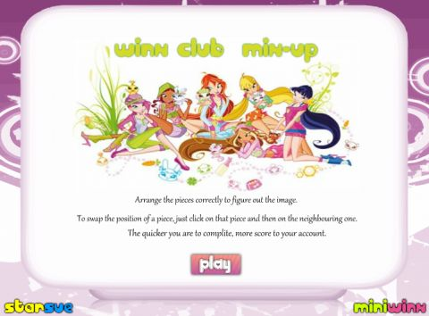 Игра Винкс клуб - головоломка - Winx Club Mix-Up