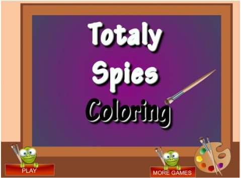 Игра Раскраски - Totaly Spies Coloring