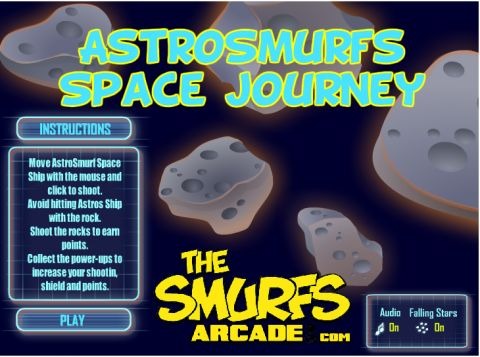 Игра Смурфы астронавты - Astrosmurfs Space Journey