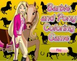 Игра Раскраски Барби и пони (Coloring pages Barbie and pony)