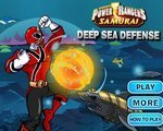 Игра Глубокое море (Power Raners samurai Deep sea defense)