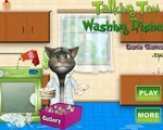 Игра Говорящий Том моет посуду (Talking Tom washing dishes)